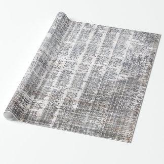 papel de embalaje urbano del periódico papel de regalo