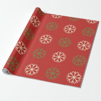 Papel de embalaje verde y blanco del modelo del papel de regalo