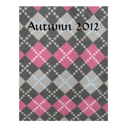 Papel de encargo rosado y gris del libro de recuer membrete