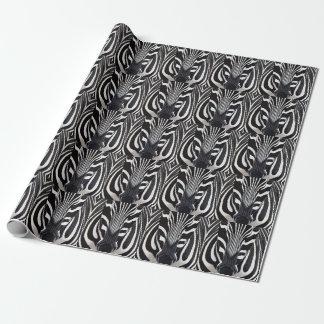 Papel de envoltorio para regalos de la cebra papel de regalo