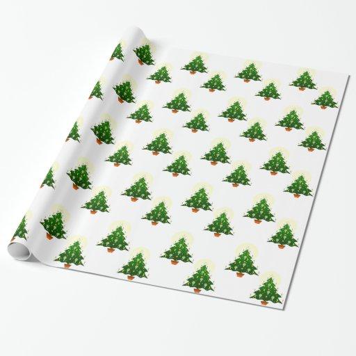 Papel de envoltorio para regalos del árbol de