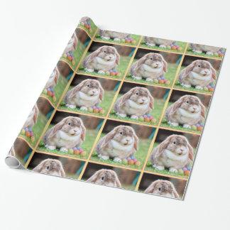Papel de envoltorio para regalos del conejito de papel de regalo