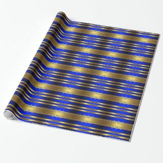 Papel de envoltorio para regalos elegante del azul