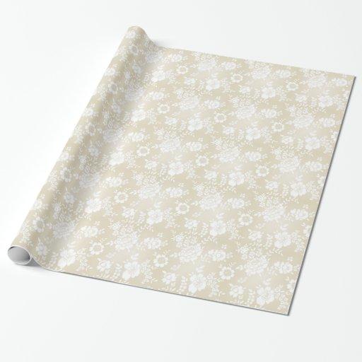 Papel de envoltorio para regalos floral blanco papel de regalo