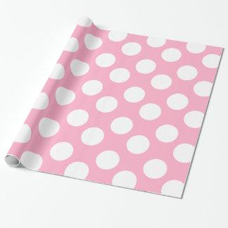 Papel de envoltorio para regalos rosado y blanco papel de regalo