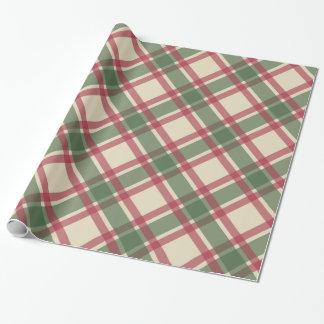 Papel de envoltorio para regalos verde de la tela papel de regalo