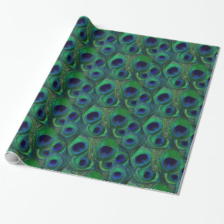 Papel de envoltorio para regalos verde y azul de papel de regalo