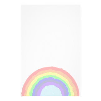 Papel de escribir del arco iris  papeleria de diseño