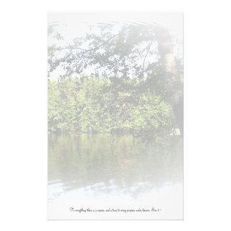 Papel de escribir del bosque del lago Ecclesiastes Papelería Personalizada
