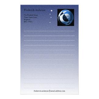 Papel de escribir del fútbol papelería de diseño