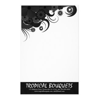 Papel de escribir negro de los efectos de papeleria de diseño
