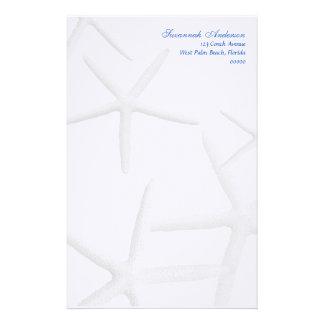 Papel de escribir personalizado estrellas de mar  papeleria de diseño
