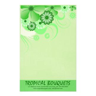 Papel de escribir verde de los efectos de personalized stationery