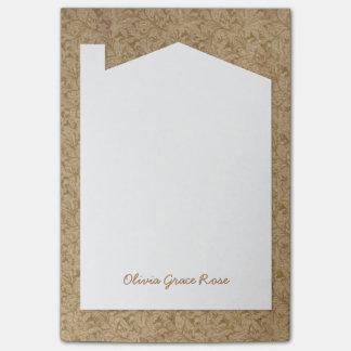 Papel de extremo antiguo de libro - cuaderno de nota post-it®