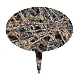 Papel de la bolsita de té debajo del microscopio decoración de tarta