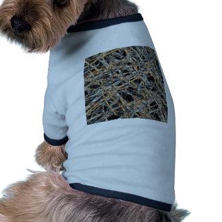 Papel de la bolsita de té debajo del microscopio ropa de perros