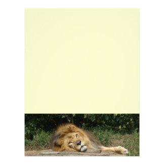 Papel de la cabeza de la letra del león membrete