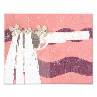 Papel de la foto de la novia del arma cojinete
