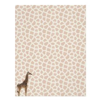 Papel de la jirafa membrete personalizado
