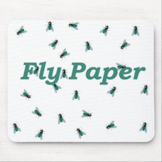 Papel de la mosca tapete de ratón