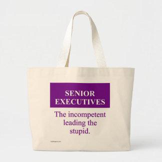 """Papel de la tutoría de ejecutivos """"senior"""" (3) bolsa de tela grande"""
