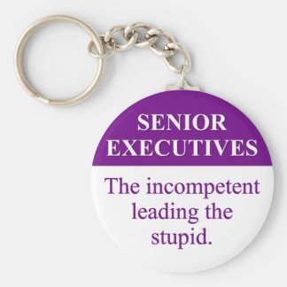 Papel de la tutoría de ejecutivos senior 3 llaveros personalizados