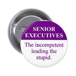 """Papel de la tutoría de ejecutivos """"senior"""" (3) pin redondo de 2 pulgadas"""
