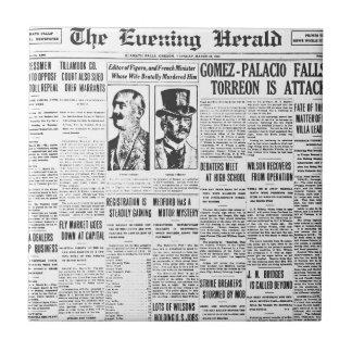 Papel de las noticias de The Evening Post 1914 Teja Cerámica