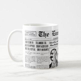 Papel de las noticias de The Evening Post 1914 Taza Clásica