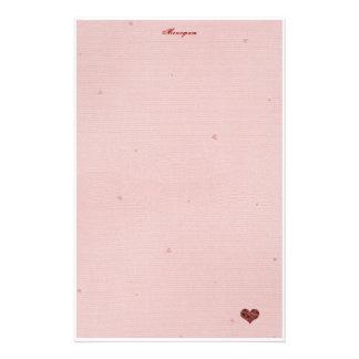 ¡Papel de letra de amor! Papelería