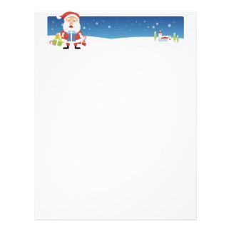 Papel de letra del navidad - bandera de Santa Plantilla De Membrete