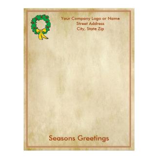 Papel de letra del navidad del negocio - diseño de plantillas de membrete