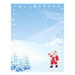 Papel de letra del navidad - el agitar de Papá Noe Membretes Personalizados