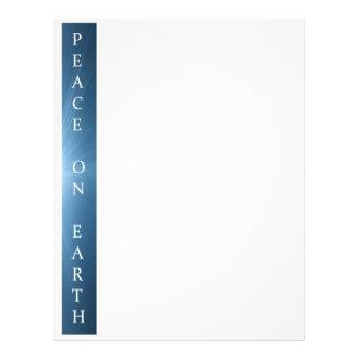 Papel de letra del navidad - paz en diseño de la t plantillas de membrete