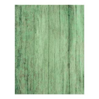 Papel de madera verde apenado rústico tarjetas publicitarias