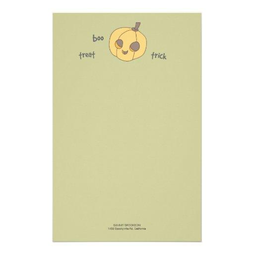 Papel de nota de Halloween de la calabaza del Papeleria De Diseño