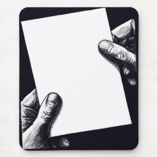 papel de nota en blanco mouse pad