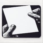 papel de nota en blanco tapete de ratón