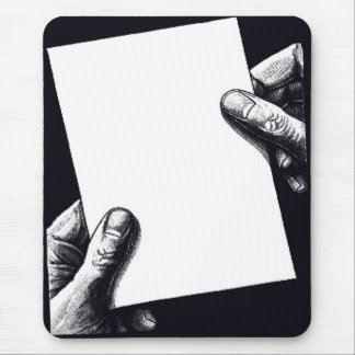 papel de nota en blanco alfombrilla de ratón