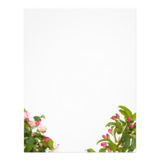 Papel de papel con membrete de los flores del árbo flyer personalizado