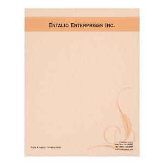Papel de papel con membrete del negocio de Orange Plantillas De Membrete