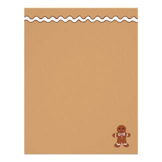 Papel de papel con membrete del pan de jengibre membrete a diseño