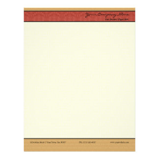 Papel de papel con membrete elegante del negocio plantilla de membrete