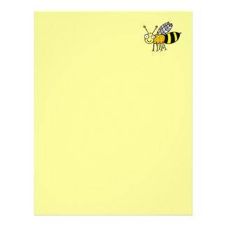 Papel de papel con membrete reciclado abeja enrrol plantillas de membrete