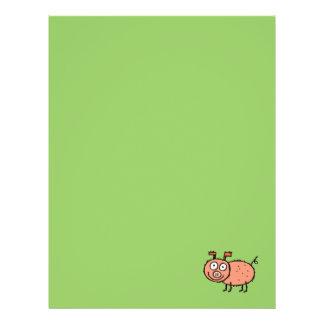 Papel de papel con membrete reciclado cerdo enrrol plantillas de membrete