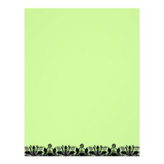 Papel de papel con membrete reciclado frontera del membrete personalizado