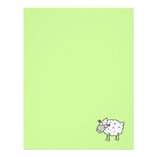 Papel de papel con membrete reciclado ovejas enrro membrete a diseño