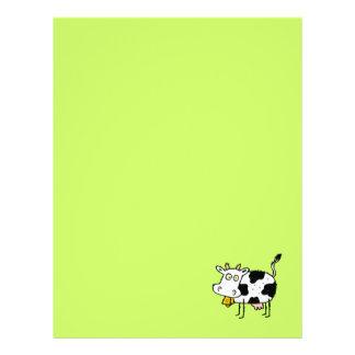 Papel de papel con membrete reciclado vaca enrroll plantillas de membrete