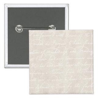 Papel de pergamino beige poner crema colonial del  pin cuadrada 5 cm