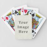Papel de pergamino blanco de marfil neutral del vi baraja cartas de poker